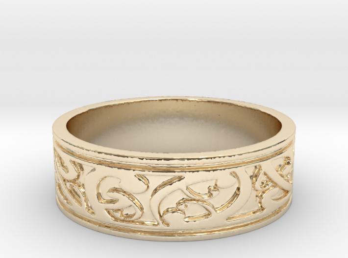 KORU V1 Ring Size 14 3d printed