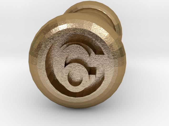 6 Gauge Ear Tunnel Engraved 3d printed