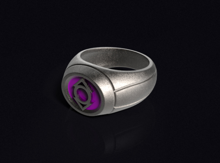 Indigo Lantern Ring 3d printed 3D render of the ring. Does not come with enamel paint applied.