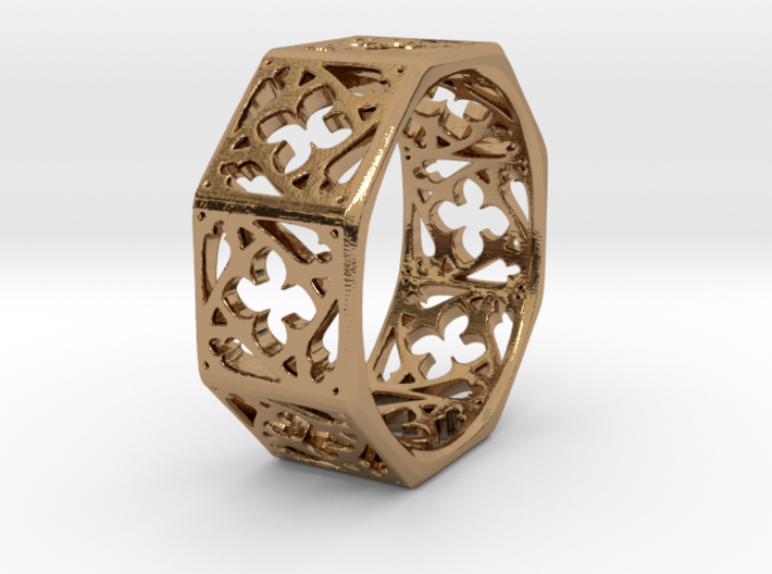Gothic Window Ring 3d printed