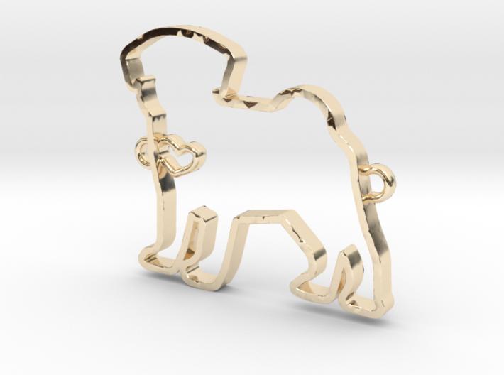 Pug pendant 3d printed