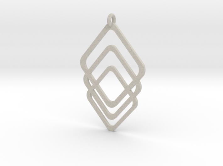 Rombs Pendant 3d printed