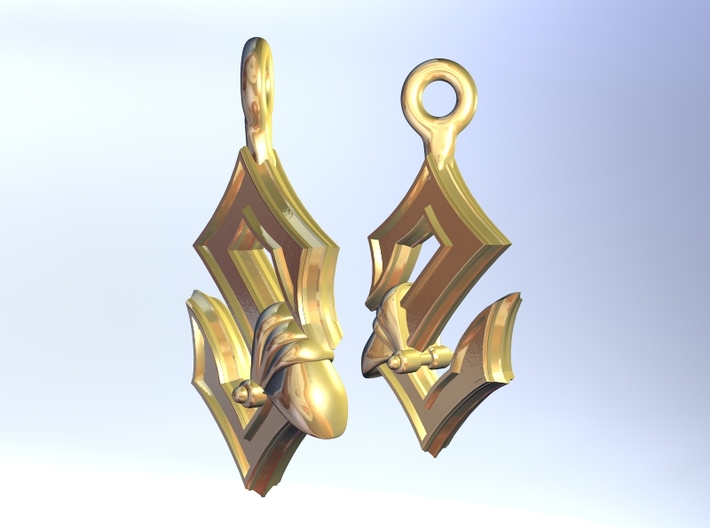 Sabaton Earrings 3d printed this is a rendering. real photos coming soon!