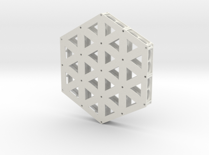 Isogrid Extruded Flanges 3d printed