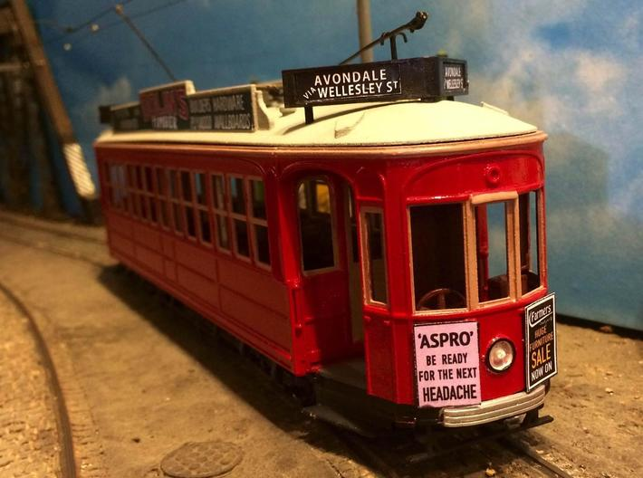 Auckland 1929 Tram - O Scale 1:43 (Part A) 3d printed Model painted and assembled by Tony Tieuli.