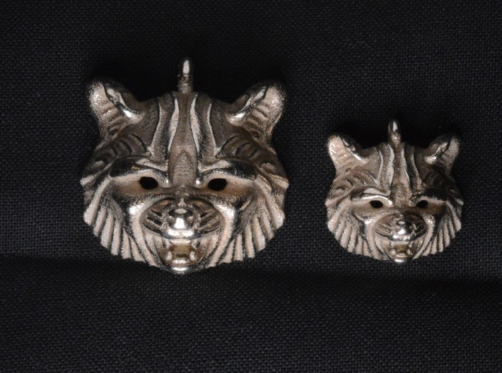 Raccoon (angry) Small Pendant 3d printed