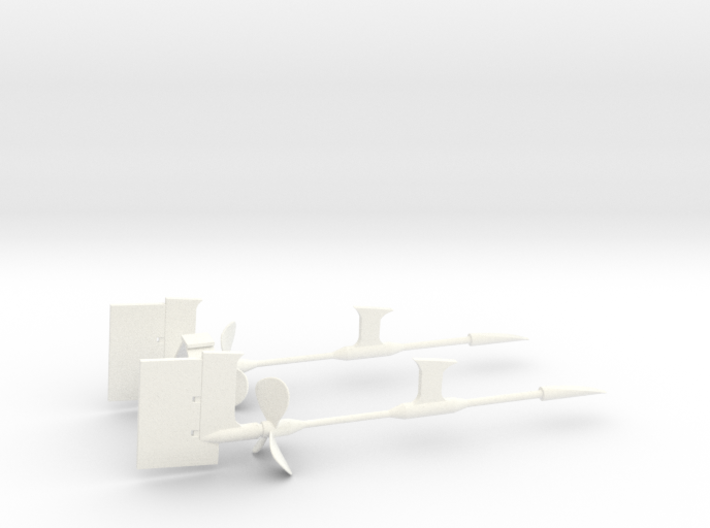 1/72 Props SET Supports And Rudders 3d printed