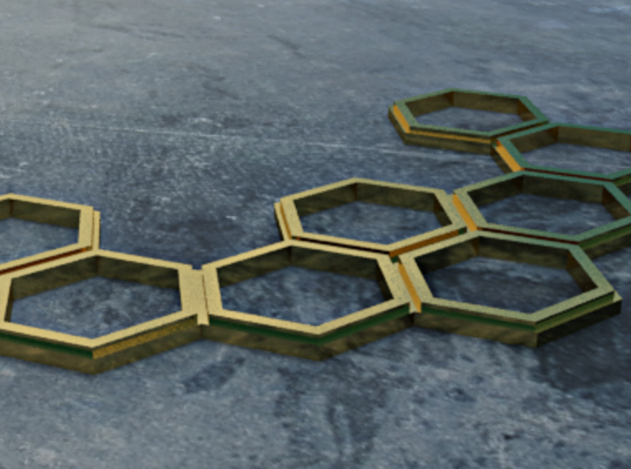 HEXset Necklace 3d printed