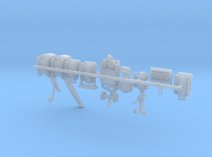 1/300 Scale WW2 SeaBees Equipment 3d printed