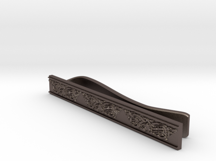 Celtic Wolf Tie Bar 3d printed