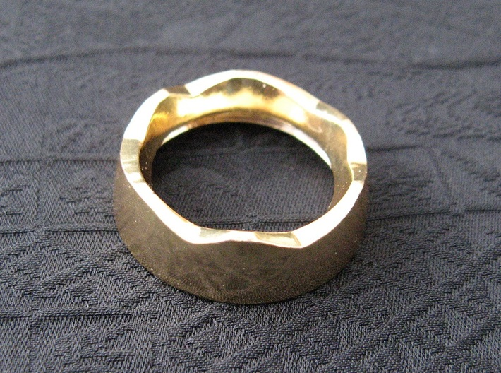 Ag Torch: Brass Bezel Ring (3 of 4) 3d printed