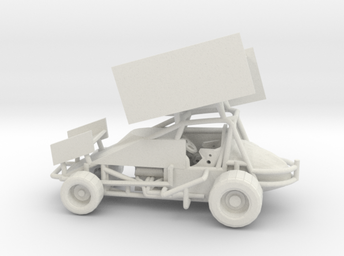 Sprint Car 1/64 scale 3d printed