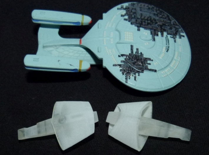 Vulcan T'Pau Type Transport 1/5000 Attack Wing 3d printed Printed in FUD, together with Tactics Galaxy class.