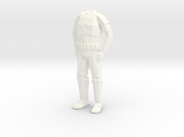 Storm Trooper Low Poly Body 3d printed