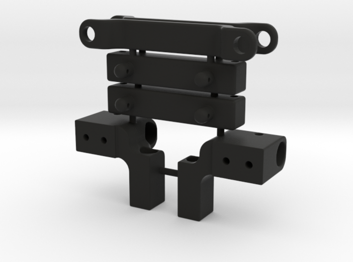Skeleton Rear Body Bumper Mount Set 3d printed