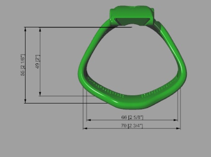 Special back KHD X3 espresso Ring 50-55mm 3d printed