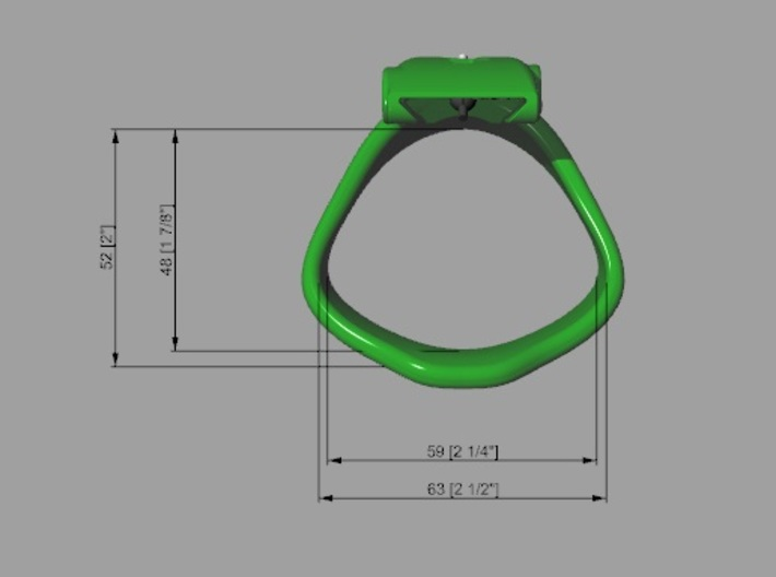 KHD X3 espresso Ring Middle 40-45mm Round 3d printed