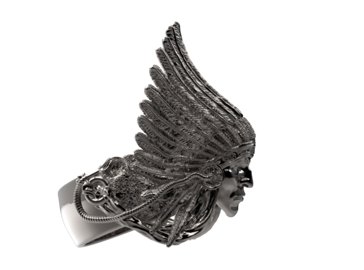 Indian Chief Ring 3d printed