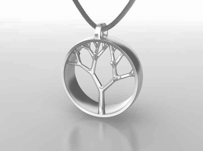 Natural Collection - Tree Pendant 3d printed