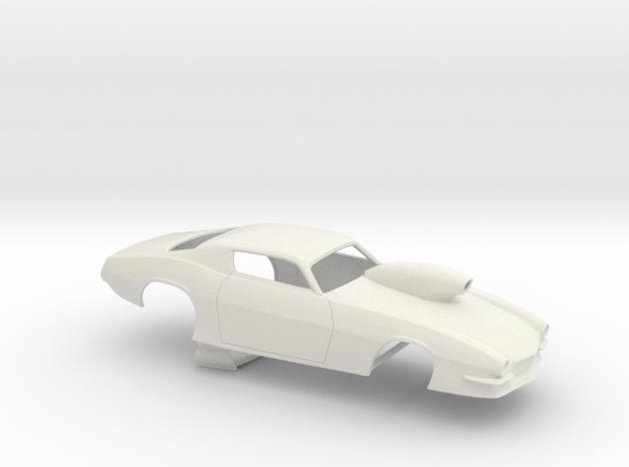 1/18 Pro Mod 73 Camaro Flat Hood W Scoop 3d printed