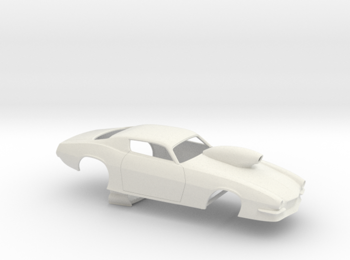 1/24 Pro Mod 73 Camaro Flat Hood W Scoop 3d printed