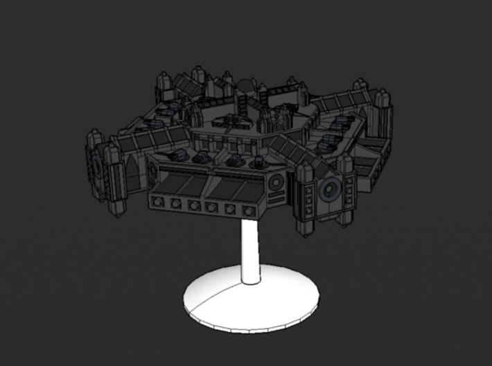 Spacestation Omega 3d printed with standard flying stand(not included)