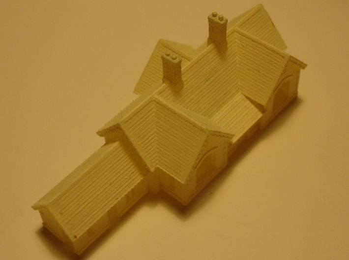 Carlisle & Settle Line - Small Station - T - 1:450 3d printed model with primer