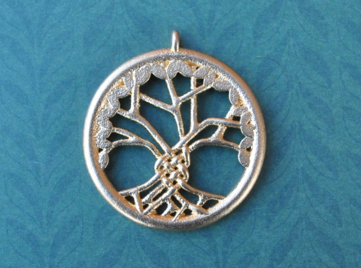 Tree Of Life Pendant 3d printed 38mm diameter