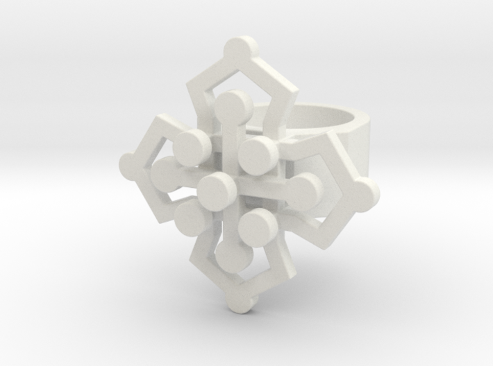Geo Floral ring size 5 3d printed