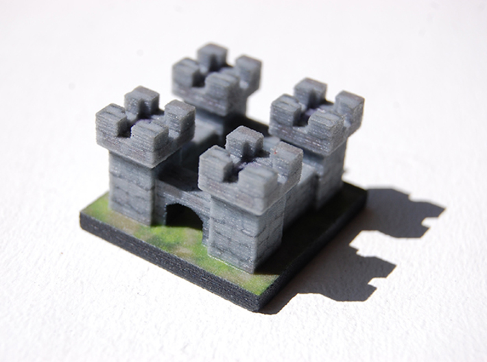 Tiny Medieval Castle 3d printed Full Color Sandstone