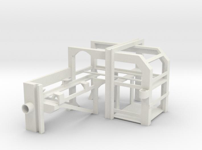1/16 USN Depth Charge Loader Rack opposite 3d printed