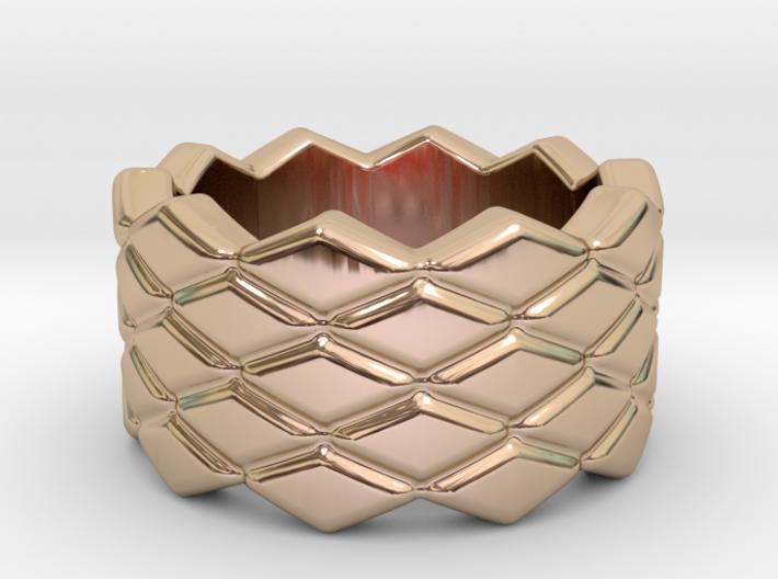 Rhombus Ring 31 – Italian Size 31 3d printed