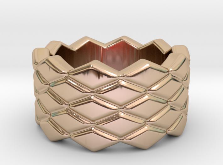 Rhombus Ring 33 – Italian Size 33 3d printed