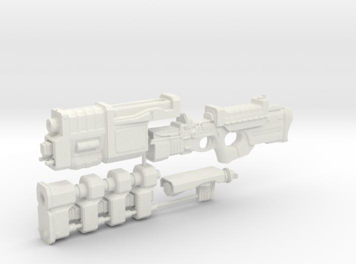 1/6th scale Railgun Extended (4 part kit) 3d printed