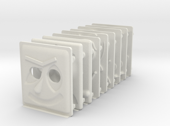 miniFloppyBot Faces Kit 3d printed