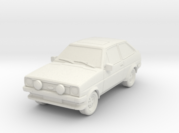 1:87 Fiesta mk1 xr2 hollow ho 1mm-walls (repaired) 3d printed