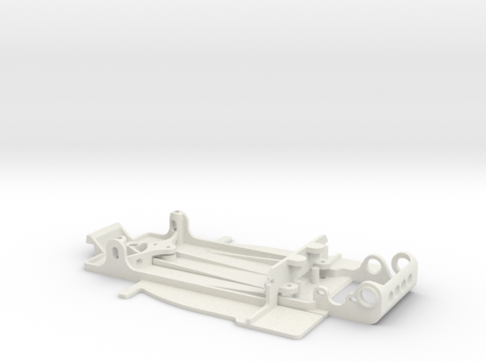 Slot car chassis for GT1 1/28 3d printed