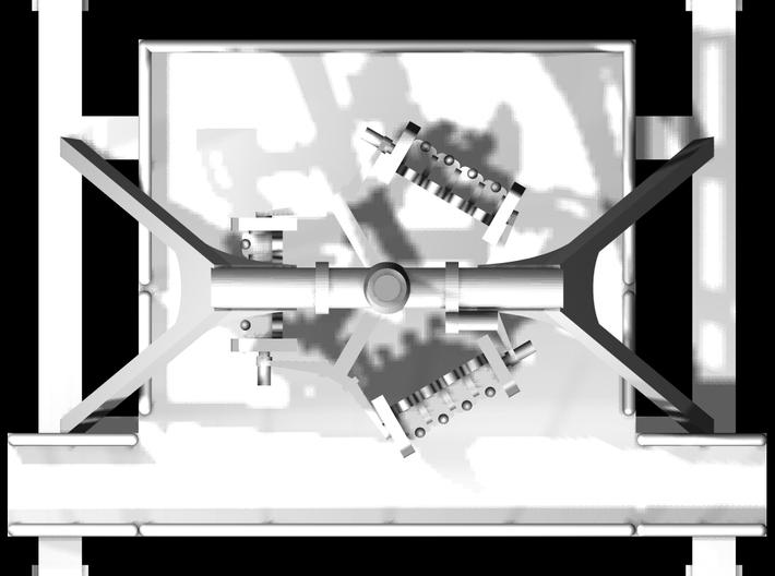 """Standmodell """"Ninja Fly"""" für 1:220 (z scale) 3d printed zusammengesetzt"""