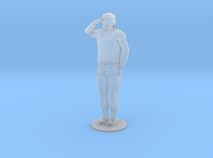 Male Soldier Salute (1/48) 3d printed