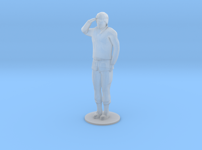 Female Soldier Salute (1/48) 3d printed