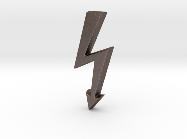 Electrical Hazard Lightning Bolt 3d printed
