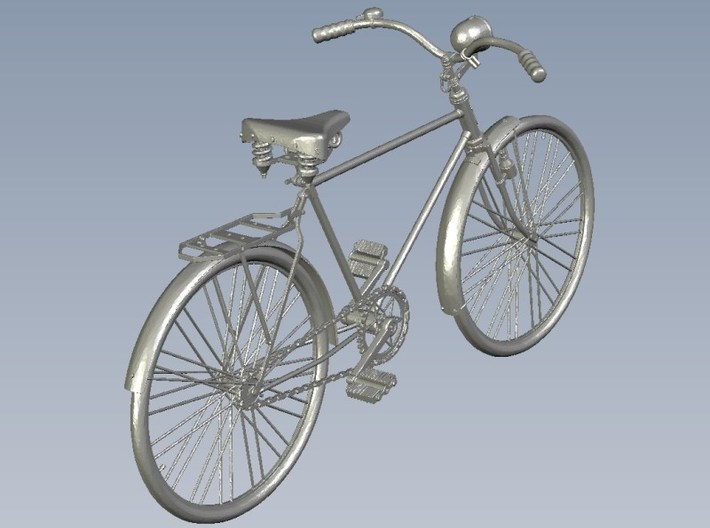 1/18 scale WWII Wehrmacht M30 bicycle model kit 3d printed