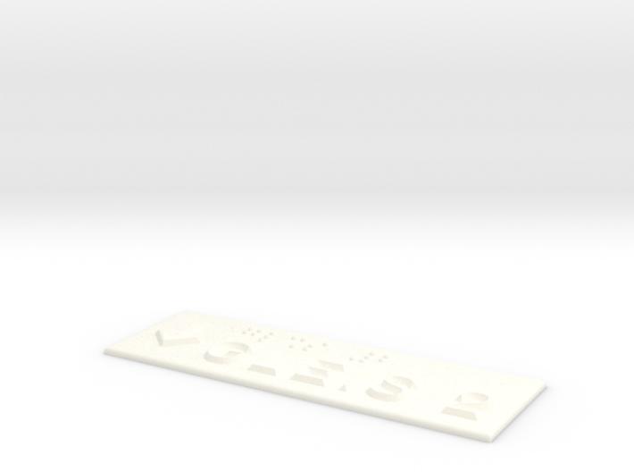 GLEIS 2 mit Pfeil nach unten 3d printed