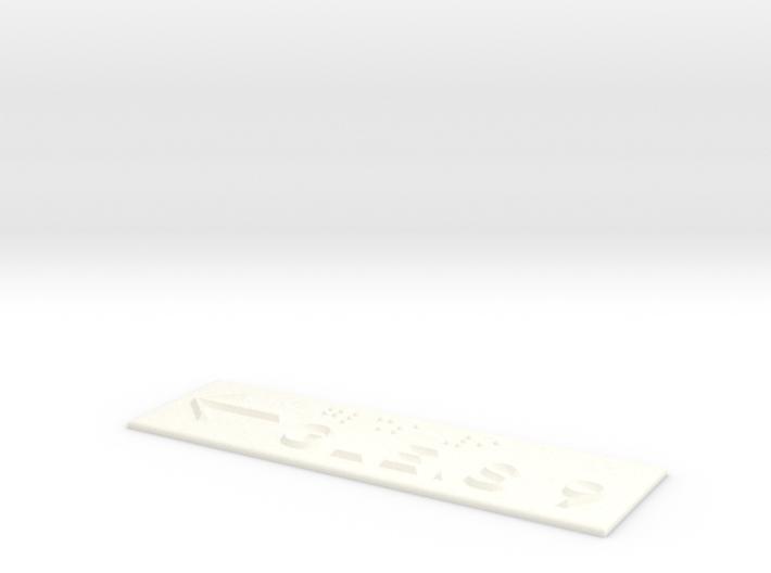 GLEIS 9 mit Pfeil nach links 3d printed