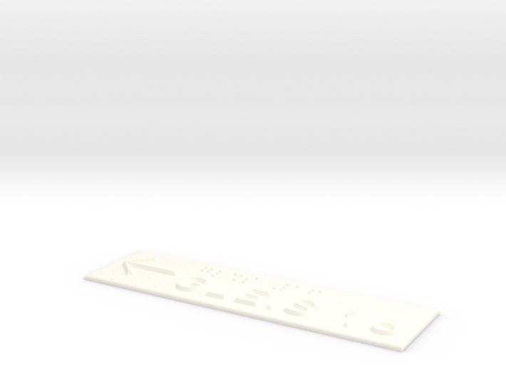 GLEIS 16 mit Pfeil nach links 3d printed
