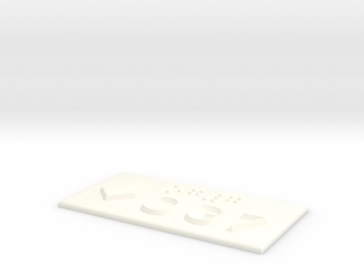 OG 7 mit Pfeil nach unten 3d printed