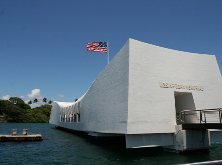1/200 Arizona Memorial 3d printed