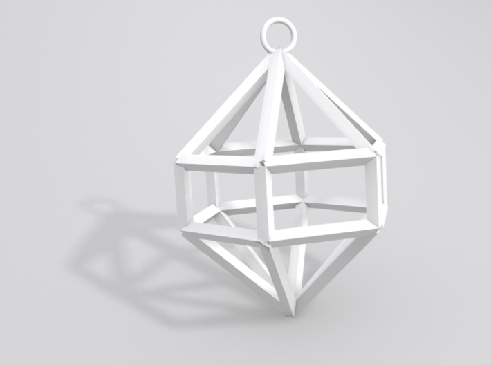 Gem Ornament 3d printed Sample render