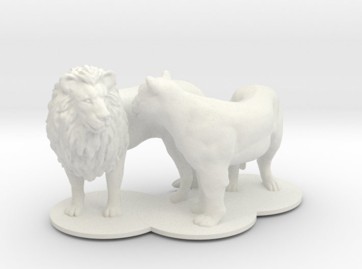 African Lion & Lioness 3d printed