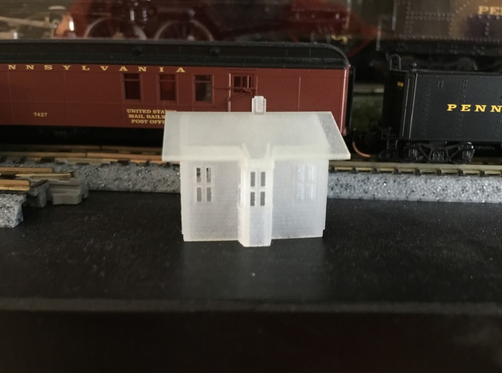 Z Scale Small PRR Passenger Depot 3d printed